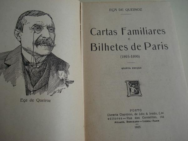 Cartas familiares e Bilhetes de Paris
