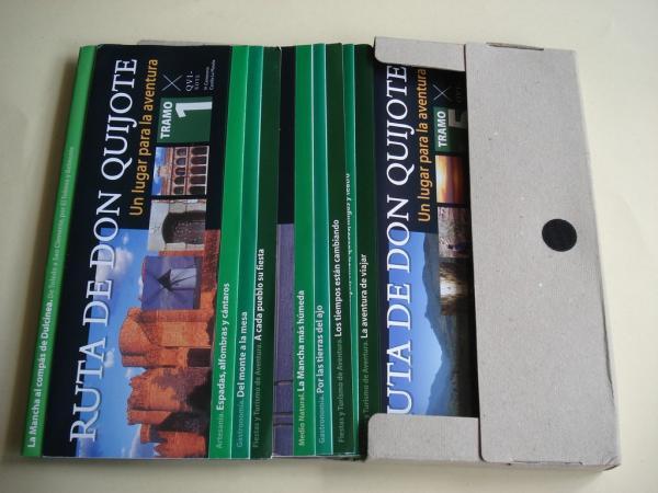 Ruta de Don Quijote. Un lugar para la aventura. 10 folletos desplegables de gran tamaño con 10 itinerarios