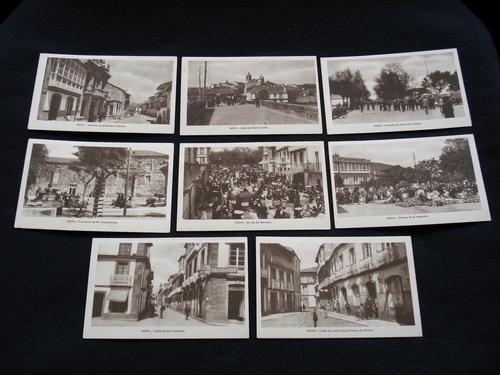 Lote de 8 tarxetas postais de Noia (Noya) / lote de 8 tarjetas postales de Noia (Noya) - Década de 1920