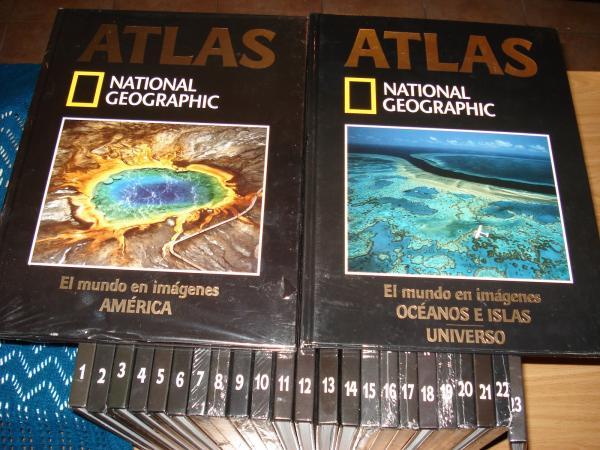 El mundo en imágenes. Atlas National Gegraphic. 25 tomos. Inclúe Diccionario Geográfico (Tomos 15 al 20)