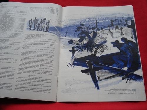 Revista LIFE en español. 10-07-1961. J. F. KENNEDY: Reportaje fotográfico de 4  páginas de los viajes de J. F. K. y Jacqueline a Canadá, Francia,  Reino Unido,  Austria...