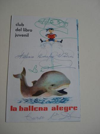 Folleto de propaganda La ballena alegre. Club del libro juvenil
