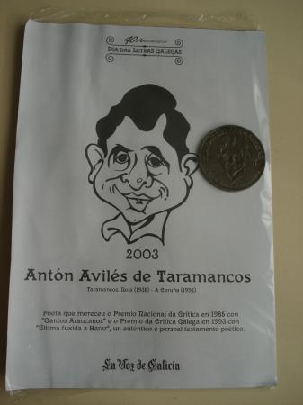Antón Avilés de Taramancos. Medalla conmemorativa 40 aniversario Día das Letras Galegas. Colección Medallas Galicia ao pé da letra