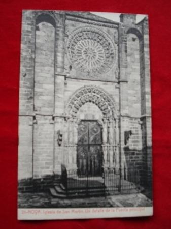Tarxeta postal: Noia (Noya)- Igrexa San Martiño. 1920