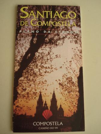 PLANO DE SANTIAGO DE COMPOSTELA. Gran formato: 65 x 90 cm, en color