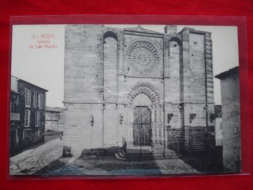 Tarxeta postal: Noia (Noya) -Igrexa de San Martiño. 1920