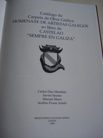 Sempre en Galiza. Castelao. Carpeta de Obra Gráfica Homenaxe de Artistas Galegos. Catálogo