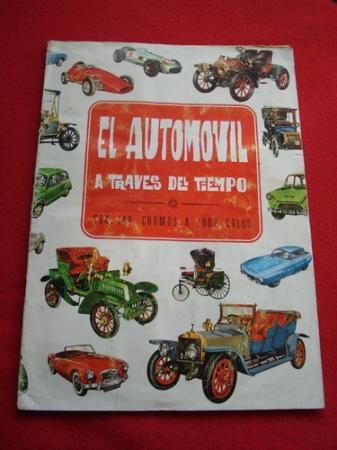 Álbum de cromos EL AUTOMÓVIL A TRAVÉS DEL TIEMPO