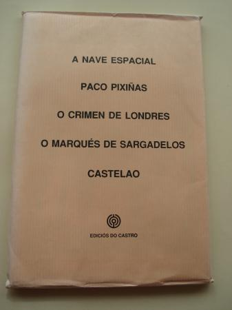 A nave espacial (2ª ed.)/ Paco Pixiñas (2ª ed.)/ O crime de Londres (2ª ed.)/ O Marqués de Sargadelos (2ª ed.) / Castelao (2ª ed.)(Carteis de cego debuxados por Díaz Pardo)
