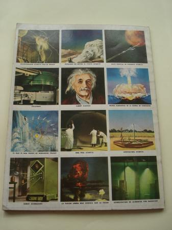 La energía atómica. Libro de Oro de Estampas. Libro ilustrado con 48 cromos, sin pegar