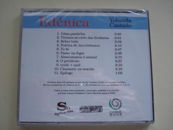 Edénica. CD con 11 poemas musicados por J. A. Fernández Calero