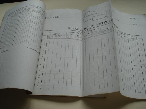 Instrucción para el servicio meteorológico en los faros de las costas de España aprobada por Real Orden de 28 de Junio de 1886