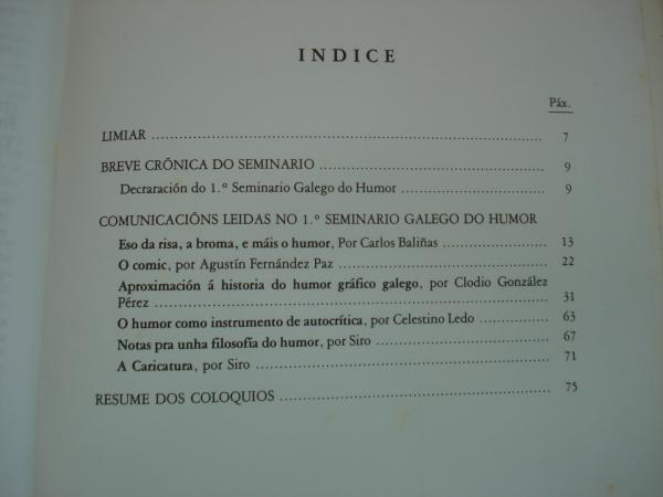 1º Seminario Galego do Humor. Cuadernos do Laboratorio de Formas de Galicia, núm. 6
