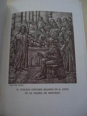 Historia de la ciudad (A Coruña). Representada en las tallas del Salón Capitular del Palacio Municipal