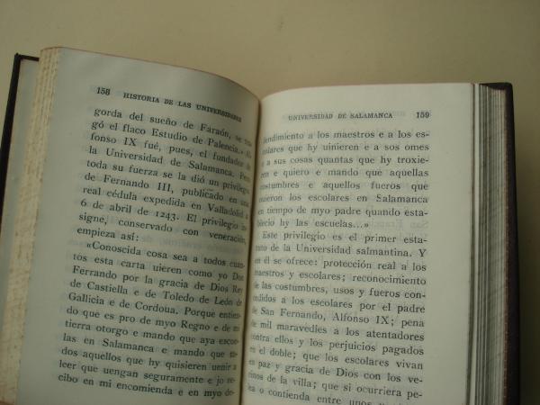 Esquema de una historia de las universidades españolas