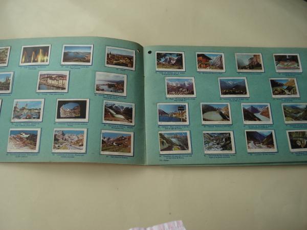 Tómbola de caridad (La Coruña). Álbum de boletos con 240 vistas: Suiza - Mónaco - Italia