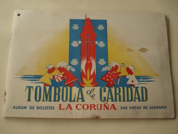 Tómbola de caridad (La Coruña). Álbum de boletos con 240 vistas de Alemania (Completo)