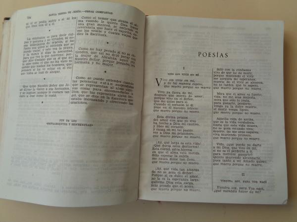 Obras completas (Con un ensayo: El estilo de Santa Teresa, por Ramón Menéndez Pidal)