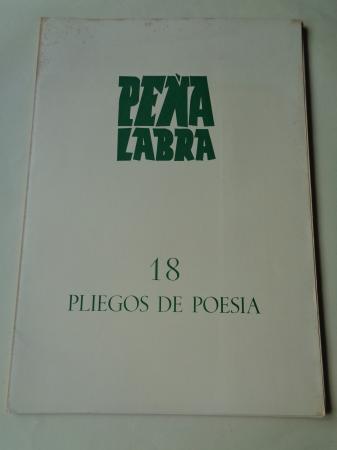 PEÑA LABRA. Pliegos de poesía, nº 18. Invierno 1975-76. Carpeta con 5 cuadernos en pliegos