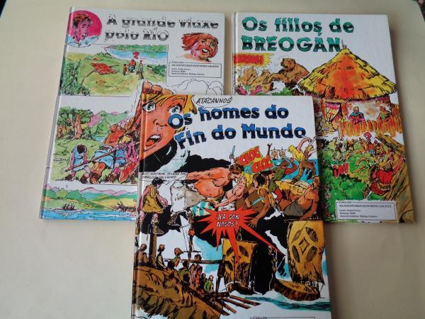 Colección completa AS AVENTURAS DUN NENO GALEGO: Os homes do fin do mundo - Os fillos de Breogán - A grande viaxe polo río (Ilustrados por Bofill)