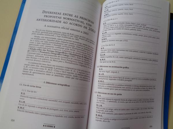 As Normas ortográficas e morfolóxicas da lingua galega. Actualización, complementos e desviacións. A nova Normativa oficial aprobada en 2003