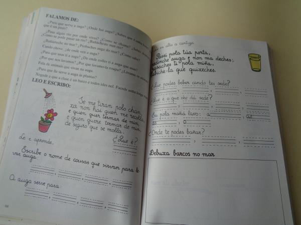 6 libros. Galego. Ciclo Inicial. Ciclo Medio. Ciclo Superior. Colectivo ESTEO / Colectivo VIEIRO (Vía Láctea, 1985)