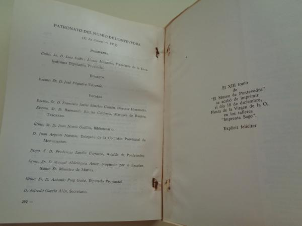 EL MUSEO DE PONTEVEDRA, XIII (1959)