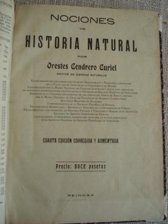 Nociones de Historia Natural