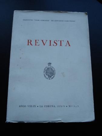 """Revista Instituto """"José Cornide"""" de Estudios Coruñeses. Números 8-9"""