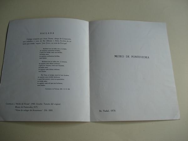Pontevedra (Galicia). Folleto de Ministerio de Información y Turismo. Década 1960. Fotografías en color + Mapas