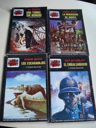 LOTE Números 1 - 2 - 3 - 4 de la Colección Terror Fantasy (Editorial Edipint, S. A.).
