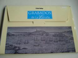 Ver os detalles de:  Grabados de La Coruña. 50 gravados en color e B/N 32 x 21,5 cm en carpeta