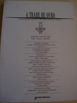Ver os detalles de:  A TRABE DE OURO. PUBLICACIÓN GALEGA DE PENSAMENTO CRÍTICO. Número 23, Xullo-Agosto-Setembro, 1995