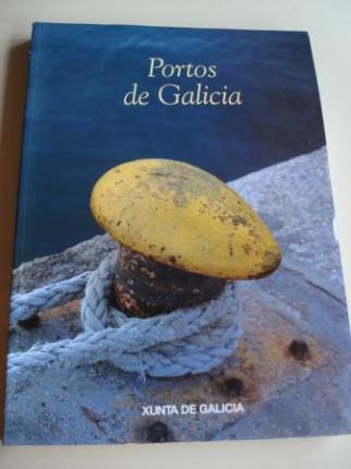 Portos de Galicia (Descrición dos portos galegos con ficha de cada un, fotografías en color e 16 cartas naúticas) - Ver os detalles do produto
