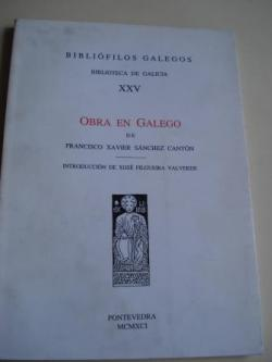 Ver os detalles de:  Obra en galego (poesía, versións, prosa). Introducción de Xosé Filguerira Valverde
