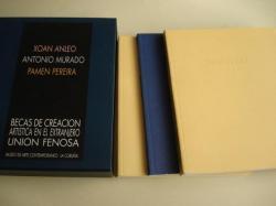 Ver os detalles de:  XOÁN ANLEO - ANTONIO MURADO - PAMEN PEREIRA. Becas de Creación Artística en el Extranjero UNIÓN FENOSA. Museo de Arte Contemporáneo - A Coruña. Estoxo en cartoné con tres libros-catalógo de Exposición, A Coruña, 1998