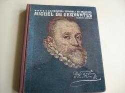 Ver os detalles de:  Miguel de Cervantes. Literatura española en imágenes. Texto + diapositivas en color