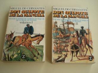 Don Quijote de la Mancha (Edición y notas de Martín de Riquer). 2 tomos - Ver os detalles do produto
