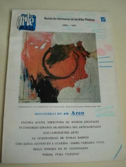 Ver os detalles de:  ARTE GALICIA. Revista de información de las artes plásticas gallegas. Número 15 - Abril 1986