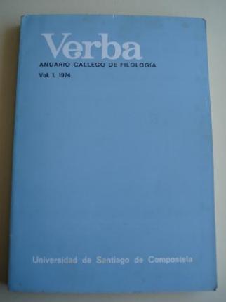 VERBA. Anuario Gallego de Filología. Vol. 1, 1974 - Ver os detalles do produto