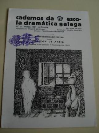 Cadernos da Escola Dramática Galega. Nº 63. Marzo, 1987. Paixón de Antía - Ver os detalles do produto
