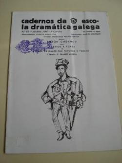 Ver os detalles de:  Cadernos da Escola Dramática Galega. Nº 67. Outubro, 1987. Tráxico á forza / Sobre os males que provoca o tabaco