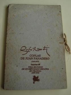Ver os detalles de:  Coplas de Juan Panadero. Año 1949-1977 / Vida bilingüe de un refugiado español en Francia. Año 1939-1940. Carpeta de cartón con dos libros