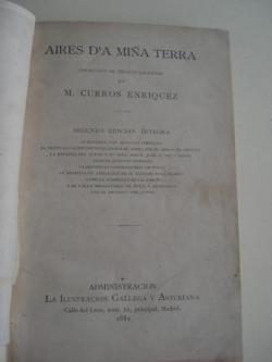 Ver os detalles de:  Aires d´a miña terra (2ª edición íntegra, Madrid,1881)