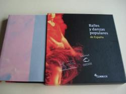 Ver os detalles de:  Bailes y danzas populares de España. Cada baile tiene un sello de Correos conmemorativo. Libro en estuche cartoné ilustrado