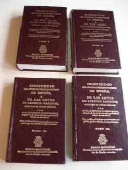 Ver os detalles de:  Compendio del Derecho Público y Común de España ó de las leyes de las Siete Partidas, colocado en orden natural. 4 Tomos. Edición facsímil