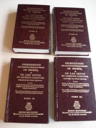 Compendio del Derecho Público y Común de España ó de las leyes de las Siete Partidas, colocado en orden natural. 4 Tomos. Edición facsímil - Ver os detalles do produto