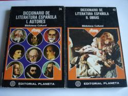Ver os detalles de:  Diccionario de literatura española. 2 tomos. I: Autores. II: Obras