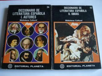 Diccionario de literatura española. 2 tomos. I: Autores. II: Obras - Ver os detalles do produto