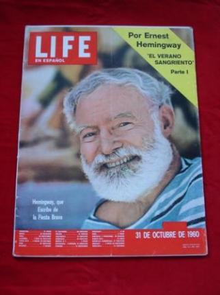 Revista LIFE en español. 31-10-1960. 1ª PARTE DE EL VERANO SANGRIENTO, DE ERNEST HEMINGWAY - Ver os detalles do produto